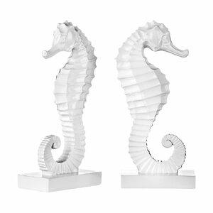2-tlg. Buchstützen Seahorse von Castleton Home