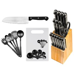 Kitchen Knive Set imperial home 29 piece stainless steel kitchen knife set & reviews
