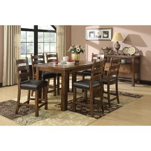 Lyons 9 Piece Counter Height Extendable Dining Set