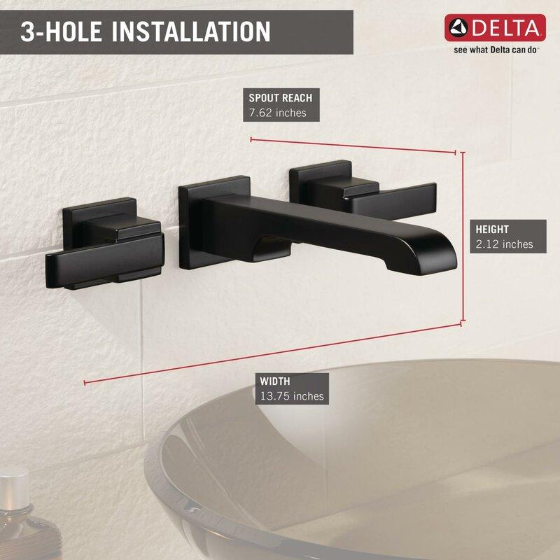Delta Wall Mounted Bathroom Faucet & Reviews | Wayfair