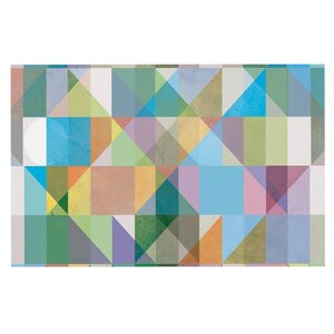 Mareike Boehmer 'Graphic 74' Rainbow Abstract Doormat
