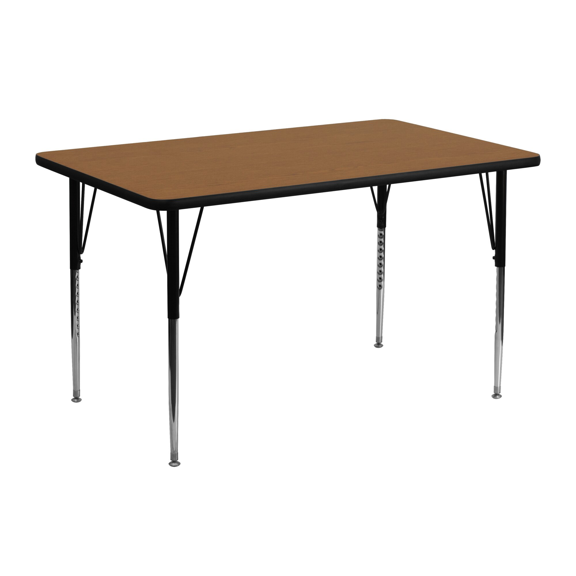 Flash furniture 48 x 24 rectangular activity table for Table x reviews