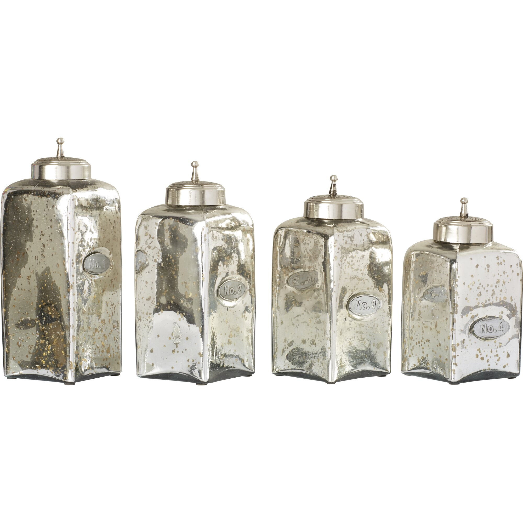 willa arlo interiors numbered glass 4 piece kitchen unique primitive rustic 4 pc glass canister set hoosier