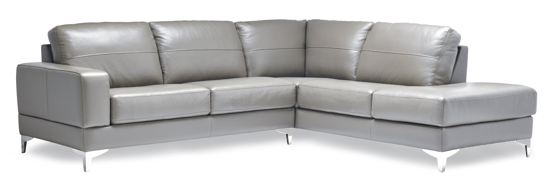 Leather Sectional Sofas Youll Love Wayfair - Real leather sectional sofa