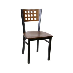 Cutout Metal Solid Wood Dining Chair (Set of 2) by H&D Restaurant Supply, Inc.