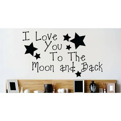 Design With Vinyl I Love You To The Moon And Back Nursery Rhyme