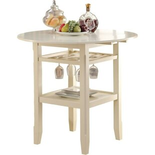 Marcia Round Wooden Counter Height Pub Table