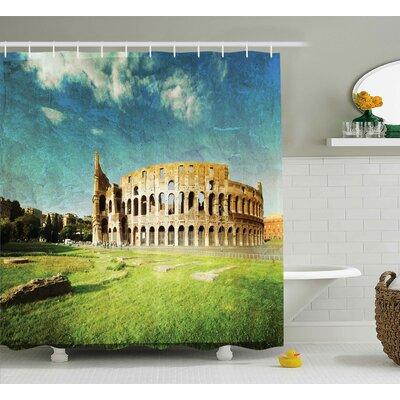 Vintage Italian Sunset Decor Shower Curtain