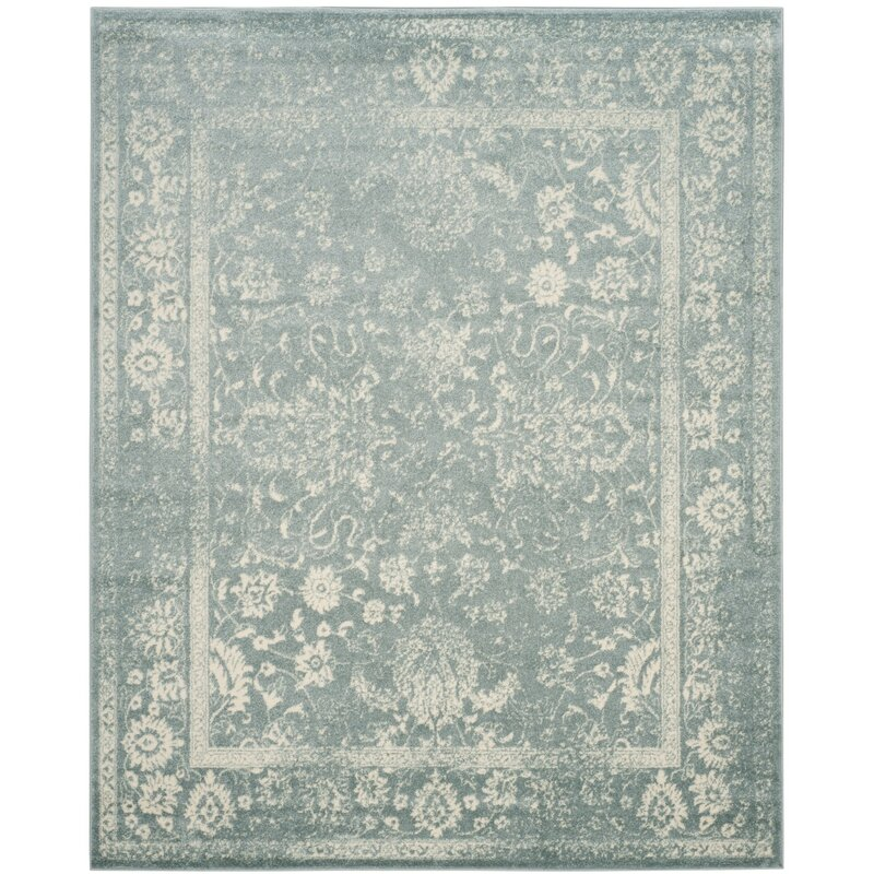 Laurel Foundry Modern Farmhouse Howton Blue Grey Off White