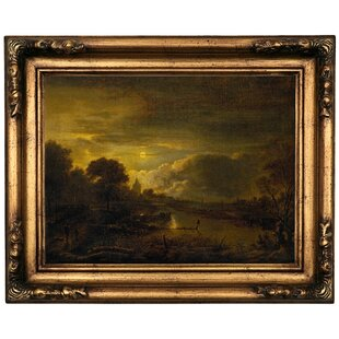 d58cd29a51e  River Scene  Framed Oil Painting Print on Canvas