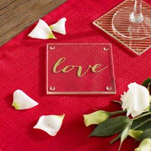 6ed9ff63f34394 Gold Love Coaster (Set of 24)