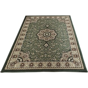 Dittmar Green Area Rug