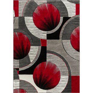 Yolo Red Gray Area Rug By Well Woven