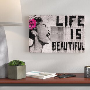 Life Is Beautiful Graphic Art Print On Wred Canvas