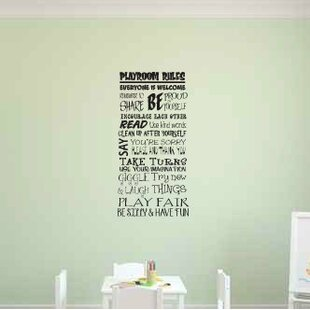 Vanessa Playroom Rules Wall Decal