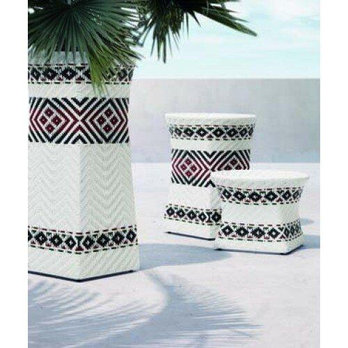"""100 Essentials South Aluminum Pot Planter  Finish: White, Size: 39.97"""" H x 21.26"""" W x 21.26"""" D"""