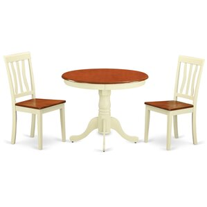 Appleridge Antique 3 Piece Dining Set by Three Posts