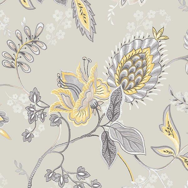 """Lynnfield 32.7' x 20.5"""" Jacobean Floral Wallpaper"""