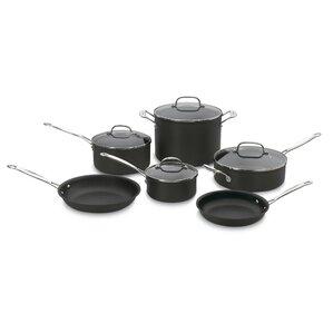 Cuisinart 10-Piece Nonstick Hard-Anodized Cookware Set