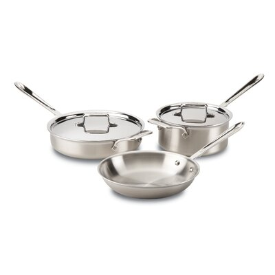 Stainless Steel 5 Piece Cookware Set All-Clad