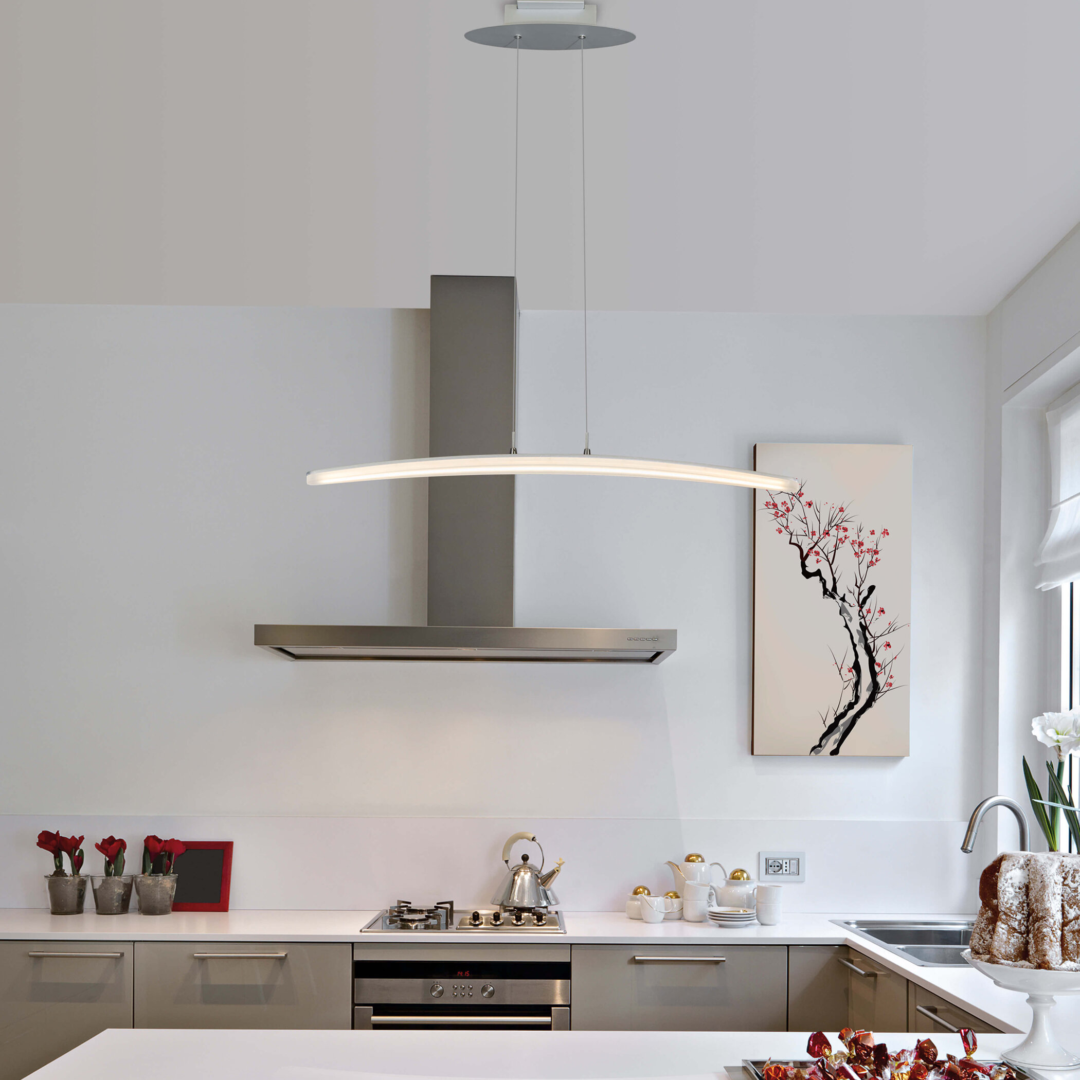 Wade Logan Castella 1 Light Led Kitchen Island Pendant