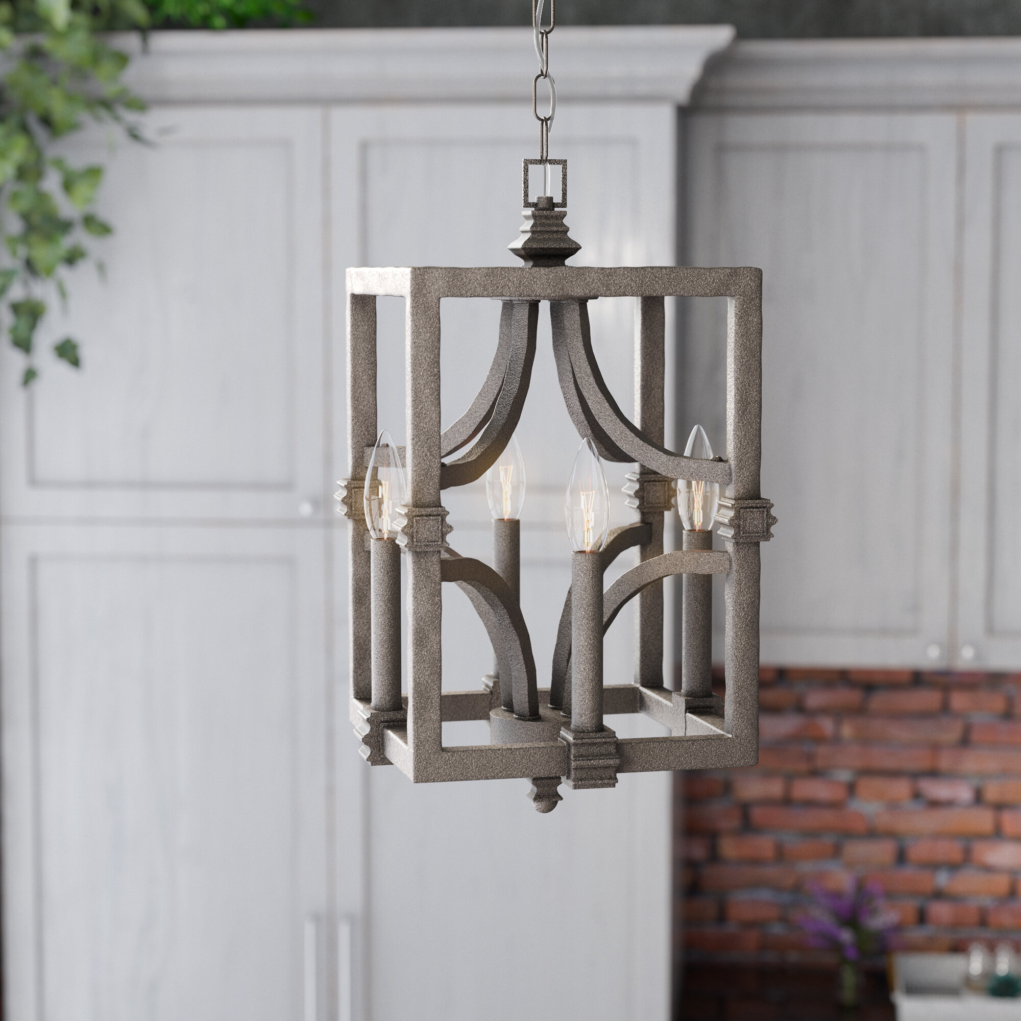 products linking with by brass links minimal fixture dunn studio light a metal shown modern in brushed flute s pendant