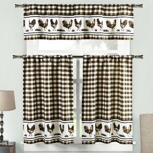 Coffee Pattern Kitchen Curtains | Flisol Home