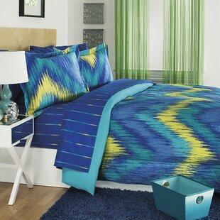 Merveilleux Chevron Tie Dye 3 Piece Comforter Set