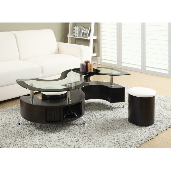 Orren Ellis Milivoje 3 Piece Coffee Table Set Reviews Wayfair