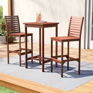 72d3ae43fe2 Ventura Dartmoor 3 Piece Bar Height Dining Set. by Gracie Oaks