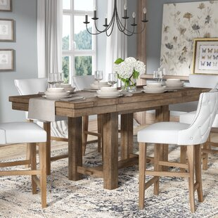 Charmant Hillary Rectangular Counter Height Extendable Dining Table