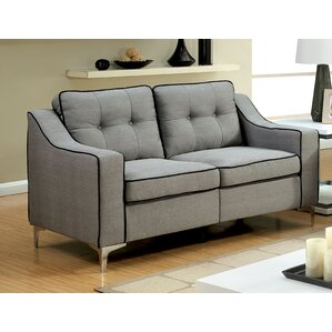 East Arapahoe Contemporary Plain Loveseat by Trent Austin Design
