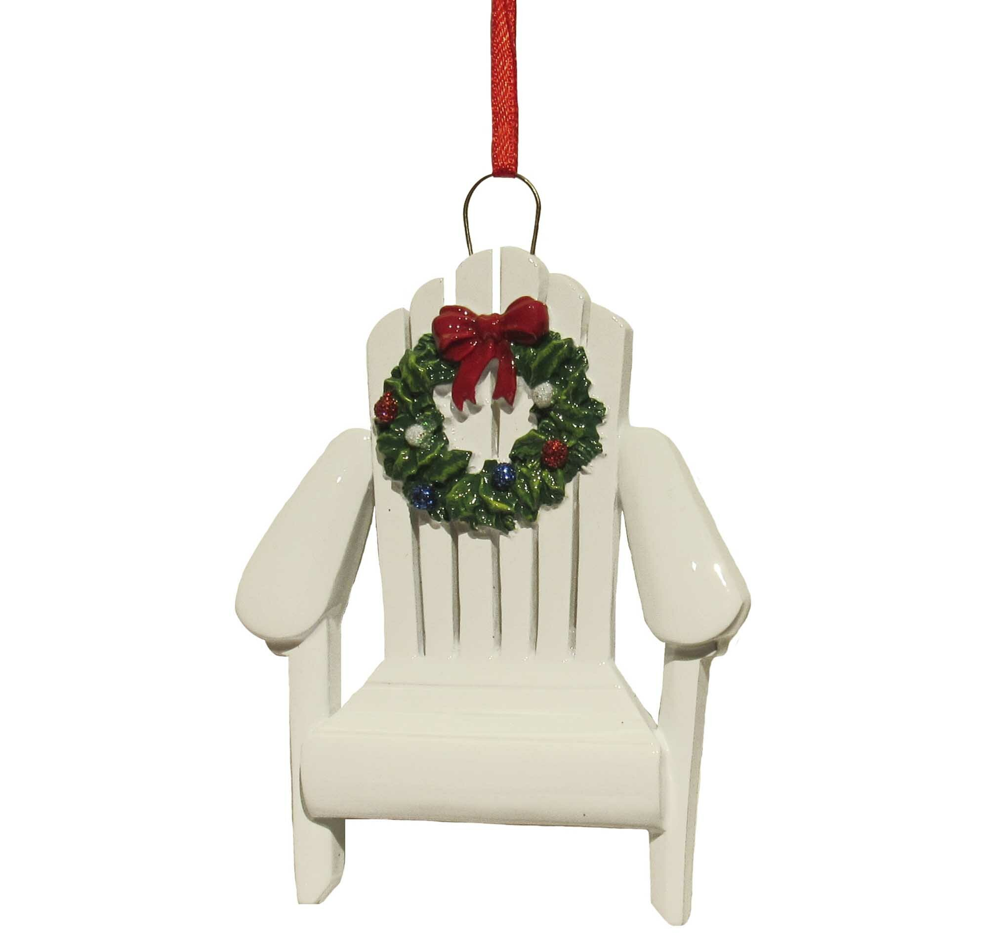 Kurt Adler Resin Adirondack Chair Ornament & Reviews | Wayfair