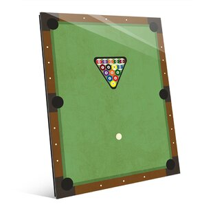 Glass Billiards Graphic Art On Plaque