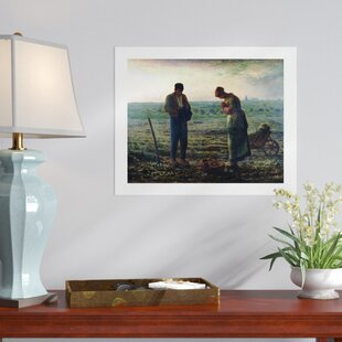 U0027The Angelusu0027 Painting Print On Rolled Canvas