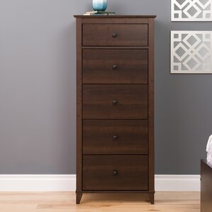 Pembrooke Vertical 5 Drawer Chest by Beachcrest Home