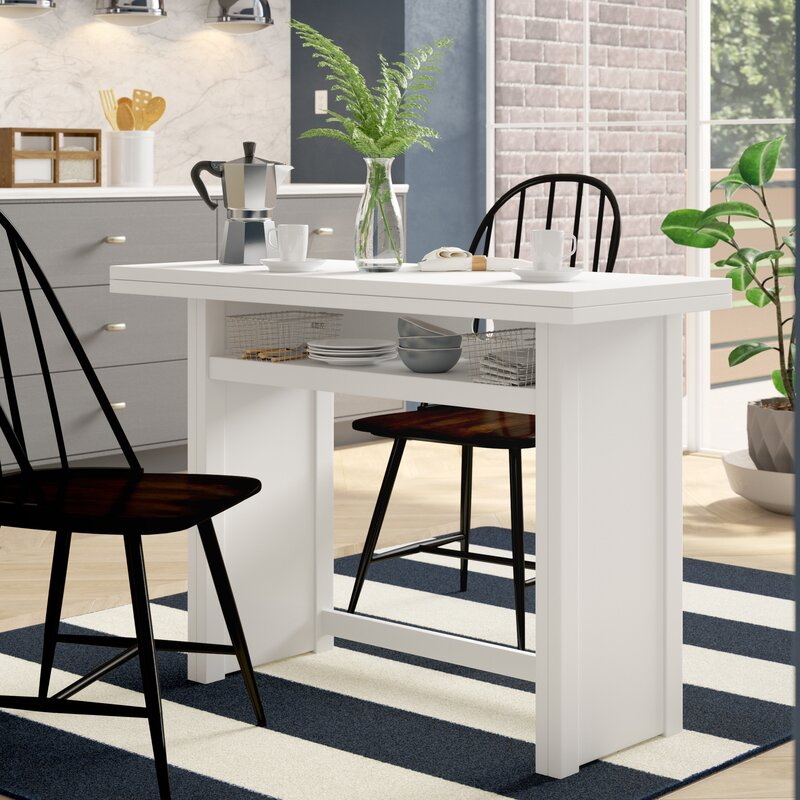 15 Small Dining Room Table Ideas Tips: Latitude Run Washam Convertible Dining Table & Reviews