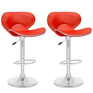 Noor Adjustable Height Swivel Bar Stool (Set of 2)