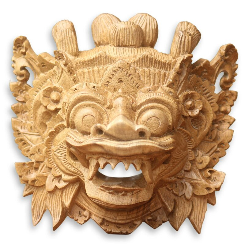 Bloomsbury Market Magical Barong Wood Mask Wall Décor & Reviews ...