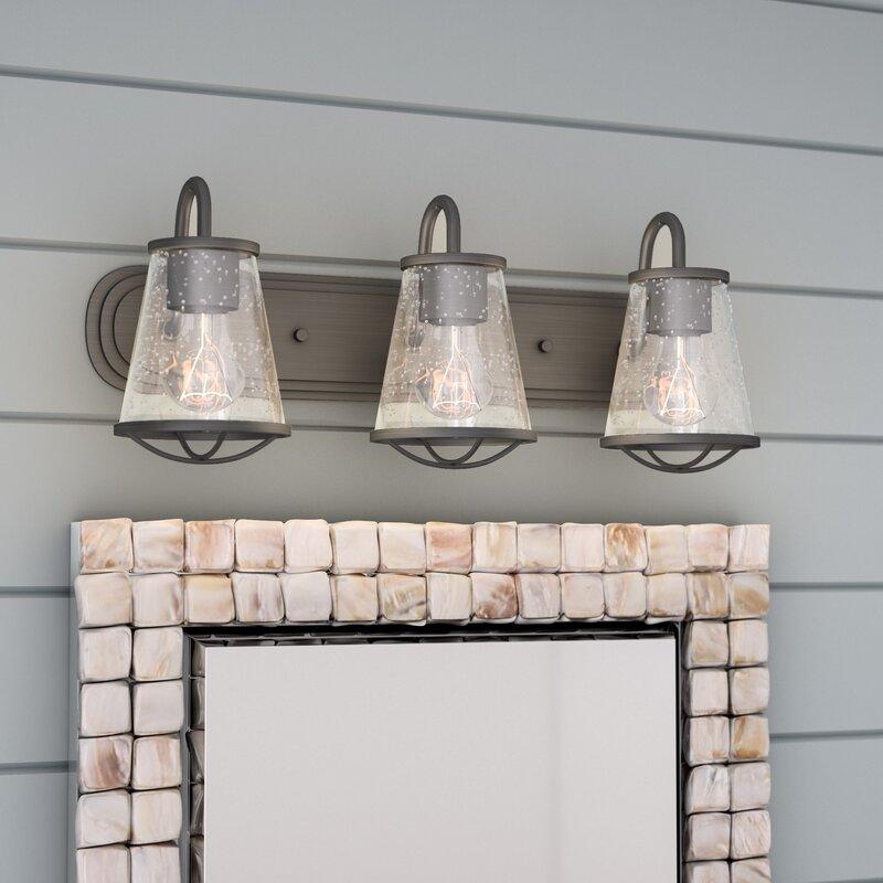 Beachcrest Home Regan 3-Light Vanity Light & Reviews | Wayfair