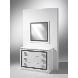 Virgo 3 Drawer Dresser with Mirror by YumanMod