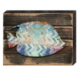 Tropical Fish Wall Art Wooden Board Wall Décor