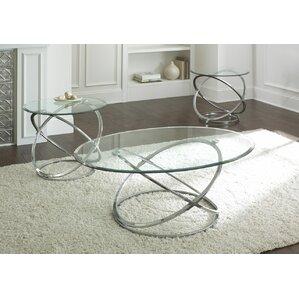 glass coffee table sets you'll love   wayfair