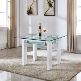 Glass Kitchen & Dining Tables You\'ll Love   Wayfair