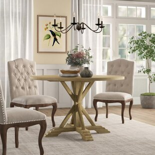 Hammersley Round Solid Wood Dining Table