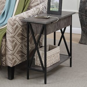 Laurel Foundry Modern Farmhouse Stroud Electric Flip Top End Table