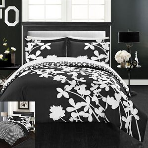 calla lily reversible duvet cover set