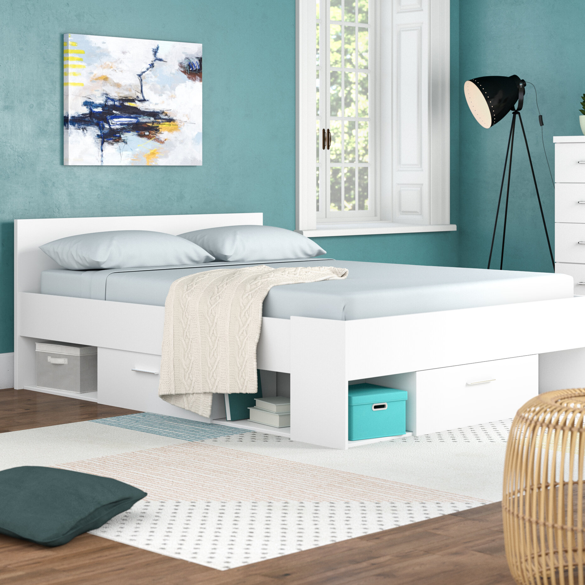 Demeyere Doppelbett Chicago mit Stauraum, 140 × 200 cm   Wayfair.de
