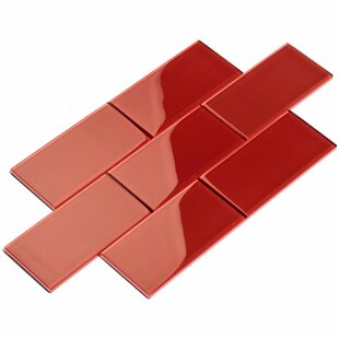 3 X 6 Gl Subway Tile In Ruby Red