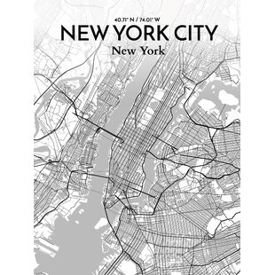 New York Map Black And White.New York Subway Map Wayfair